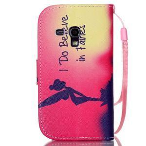 Knížkové PU kožené puzdro pre Samsung Galaxy S3 mini - víla - 2