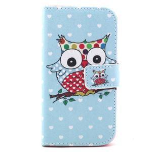 Standy peňaženkové puzdro pre Samsung Galaxy S4 - sova - 2