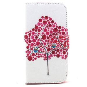 Standy peňaženkové puzdro pre Samsung Galaxy S4 - soví strom - 2