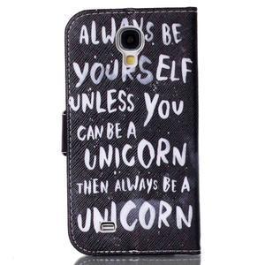 Emotive knížkové puzdro pre Samsung Galaxy S4 - unicorn - 2