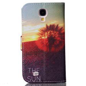 Emotive knížkové pouzdro na Samsung Galaxy S4 - východ slunce - 2