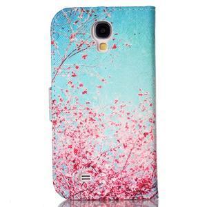 Emotive knížkové pouzdro na Samsung Galaxy S4 - kvetoucí švestka - 2