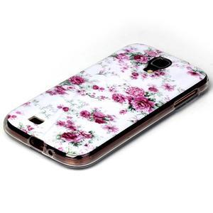 Softy gélový obal pre mobil Samsung Galaxy S4 - kvety - 2
