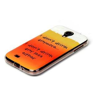 Softy gélový obal pre mobil Samsung Galaxy S4 - drink - 2