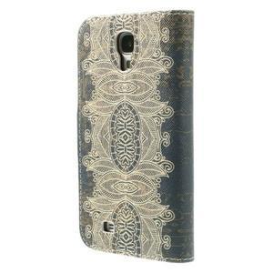 Elegant peněženkové pouzdro na Samsung Galaxy S4 - retro květina - 2