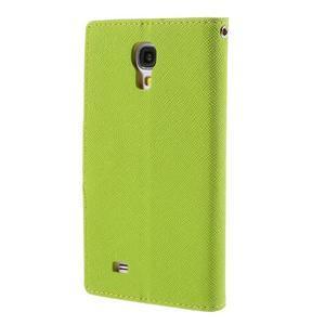 Sunny PU kožené puzdro pre mobil Samsung Galaxy S4 - zelené - 2