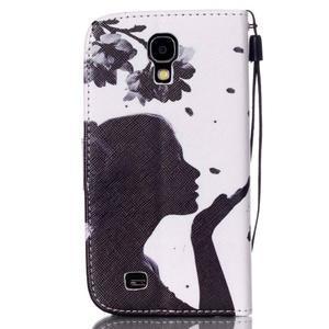 Knížkové koženkové pouzdro na Samsung Galaxy S4 - dívka - 2
