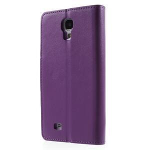 Diary PU kožené puzdro pre mobil Samsung Galaxy S4 - fialové - 2