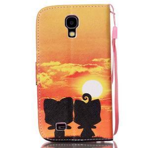 Knížkové koženkové puzdro pre Samsung Galaxy S4 - sunrise - 2