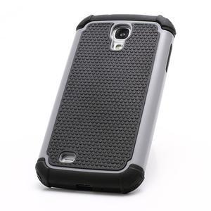 Outdoor odolný silikonový obal na Samsung Galaxy S4 - šedý - 2