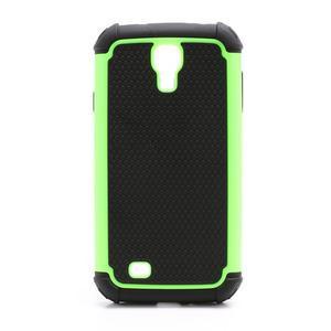 Outdoor odolný silikonový obal pre Samsung Galaxy S4 - zelený - 2