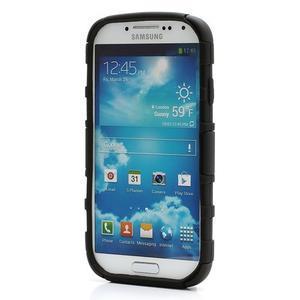 Odolný ochranný silikonový kryt na Samsung Galaxy S4 - černý - 2