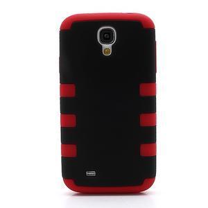 Extreme odolný gelový obal 2v1 na Samsung Galaxy S4 - červený - 2