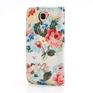Kvetinové puzdro pre mobil Samsung Galaxy S4 - biele pozadie - 2