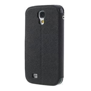 Okýnkové peňaženkové puzdro pre mobil Samsung Galaxy S4 - čierne - 2