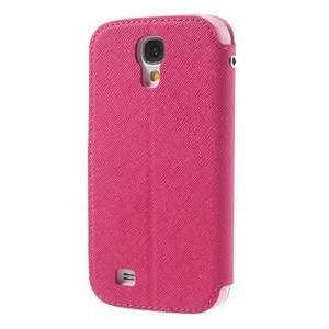 Okýnkové peněženkové pouzdro na mobil Samsung Galaxy S4 - rose - 2