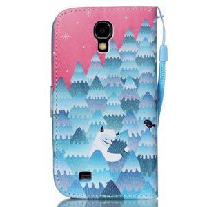Knížkové koženkové pouzdro na Samsung Galaxy S4 - snowman - 2