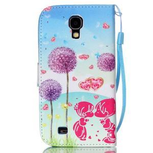 Knížkové koženkové pouzdro na Samsung Galaxy S4 - láska - 2