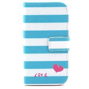 Standy peňaženkové puzdro pre Samsung Galaxy S4 - love - 2