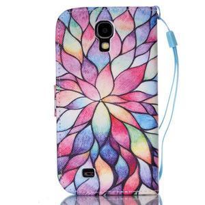 Diary peňaženkové puzdro pre mobil Samsung Galaxy S4 mini - farebné lístky - 2