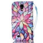 Diary peňaženkové puzdro pre mobil Samsung Galaxy S4 mini - farebné lístky - 2/6