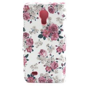 Puzdro pre mobil Samsung Galaxy S4 mini - kvety - 2