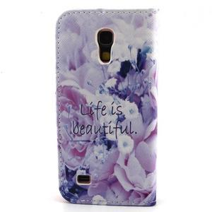 Diaryleather puzdro pre mobil Samsung Galaxy S4 mini - beatiful - 2