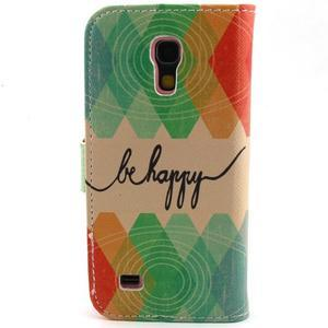 Diaryleather puzdro pre mobil Samsung Galaxy S4 mini - be happy - 2