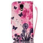 Diary peněženkové pouzdro na mobil Samsung Galaxy S4 mini - motýlci - 2/6