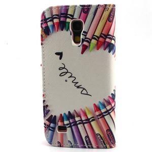 Diaryleather puzdro pre mobil Samsung Galaxy S4 mini - smile - 2