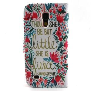 Diaryleather puzdro pre mobil Samsung Galaxy S4 mini - Shakespeare - 2