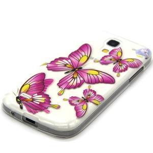 Transparentný gélový obal pre Samsung Galaxy S4 mini - motýle - 2