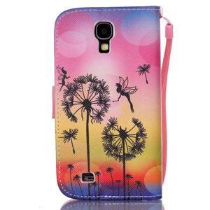 Diary peňaženkové puzdro pre mobil Samsung Galaxy S4 mini - púpavy - 2