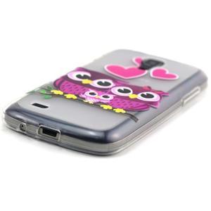 Transparentní gelový obal na Samsung Galaxy S4 mini - soví rodinka - 2