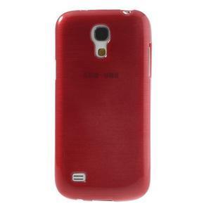 Brushed gélový obal pre mobil Samsung Galaxy S4 mini - červený - 2