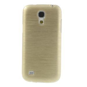 Brushed gélový obal pre mobil Samsung Galaxy S4 mini - zlatý - 2