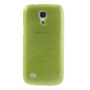 Brushed gelový obal na mobil Samsung Galaxy S4 mini - zelený - 2
