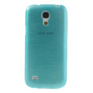 Brushed gélový obal pre mobil Samsung Galaxy S4 mini - modrý - 2