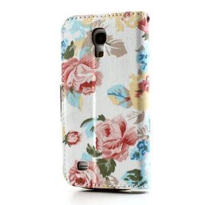 Květinkové pouzdro na mobil Samsung Galaxy S4 mini - bílé pozadí - 2
