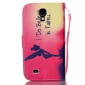 Diary peňaženkové puzdro pre mobil Samsung Galaxy S4 mini - víla - 2