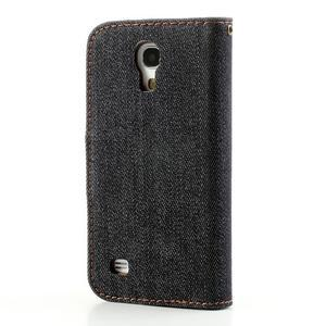 Jeans stylové pouzdro na mobil Samsung Galaxy S4 mini - černomodré - 2