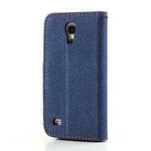 Jeans stylové pouzdro na mobil Samsung Galaxy S4 mini - tmavěmodré - 2