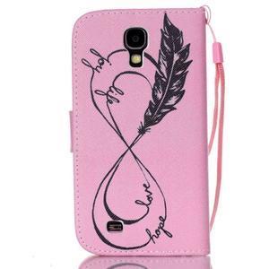 Diary peňaženkové puzdro pre mobil Samsung Galaxy S4 mini - love - 2