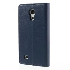 Sonata PU kožené puzdro pre mobil Samsung Galaxy S4 mini - tmavomodré - 2