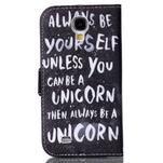 Emotive peňaženkové puzdro pre Samsung Galaxy S4 mini - unicorn - 2/6