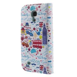 Style peňaženkové puzdro pre Samsung Galaxy S4 mini - Londýn - 2