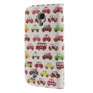 Style peňaženkové puzdro pre Samsung Galaxy S4 mini - autíčka - 2