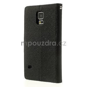 Diary peňaženkové puzdro pre Samsung Galaxy S5 - čierne - 2