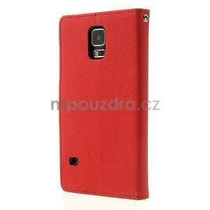Diary peňaženkové puzdro pre Samsung Galaxy S5 - červené - 2