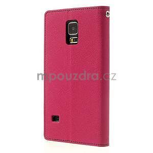 Diary peňaženkové puzdro pre Samsung Galaxy S5 - rose - 2